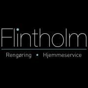 Logo Flintholm i negativ