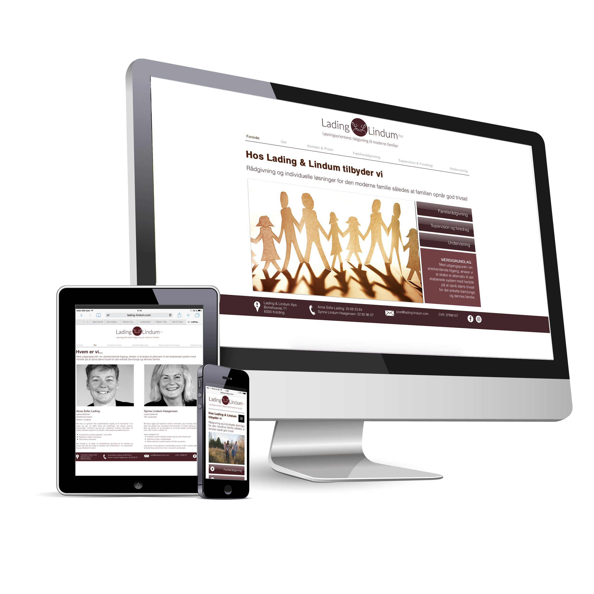 Responsive Website - Lading & Lindum