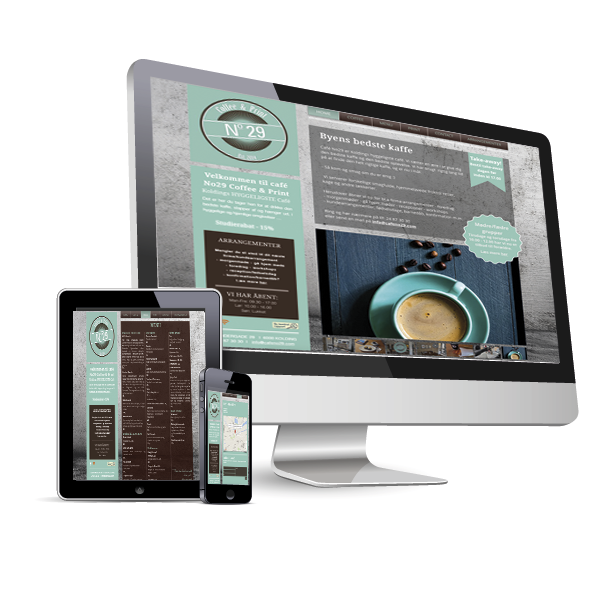 Responsive web site - Cafe No 29