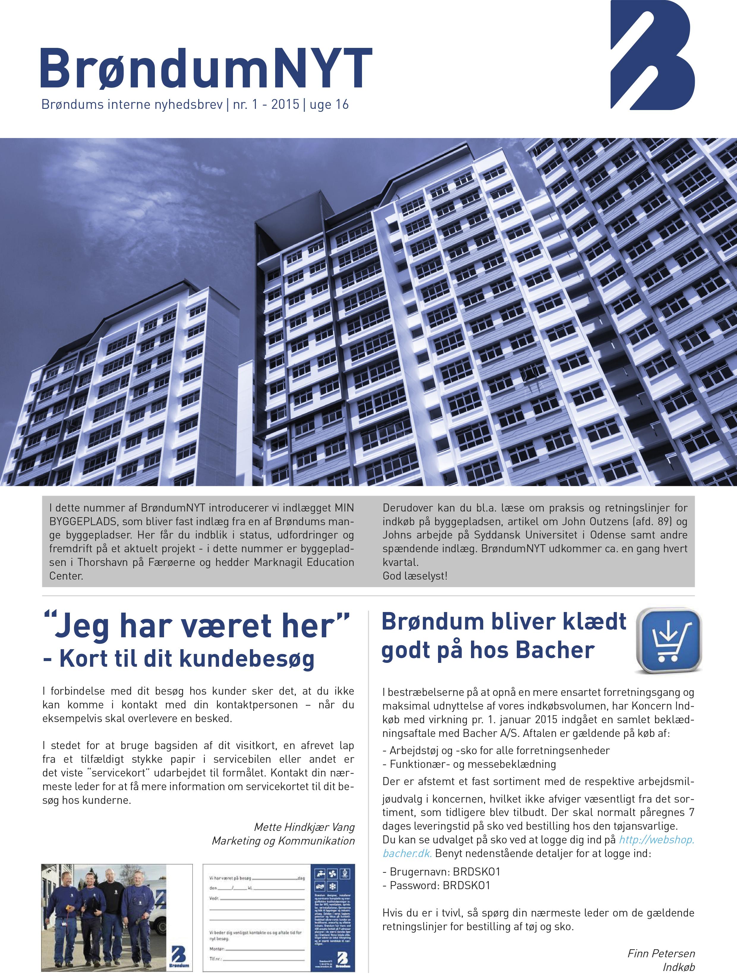 Nyhedsbrev Brøndum