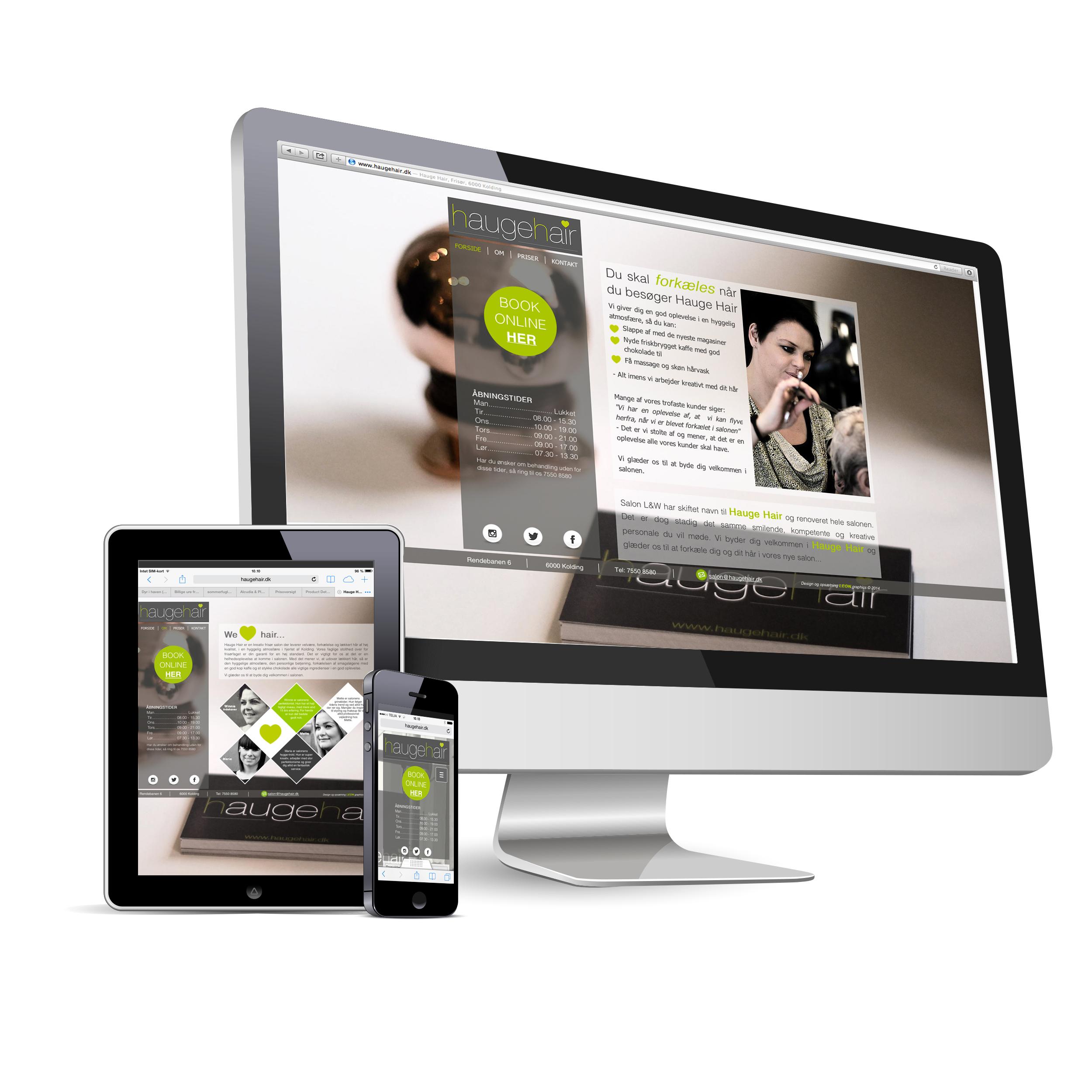 Responsive web site - Hauge Hair
