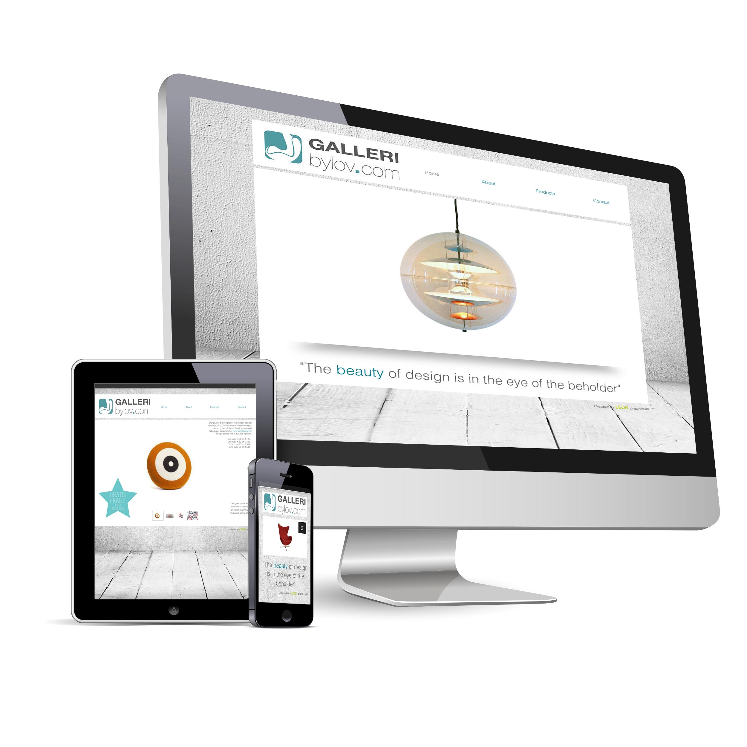 Responsive web site - Galleri Bylov
