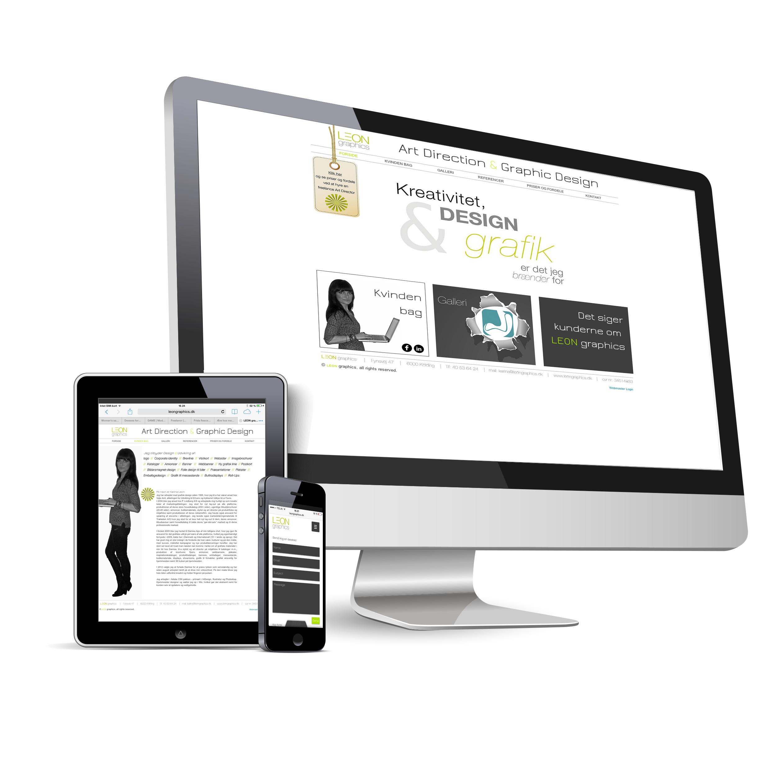Responsive web site - LEON graphics