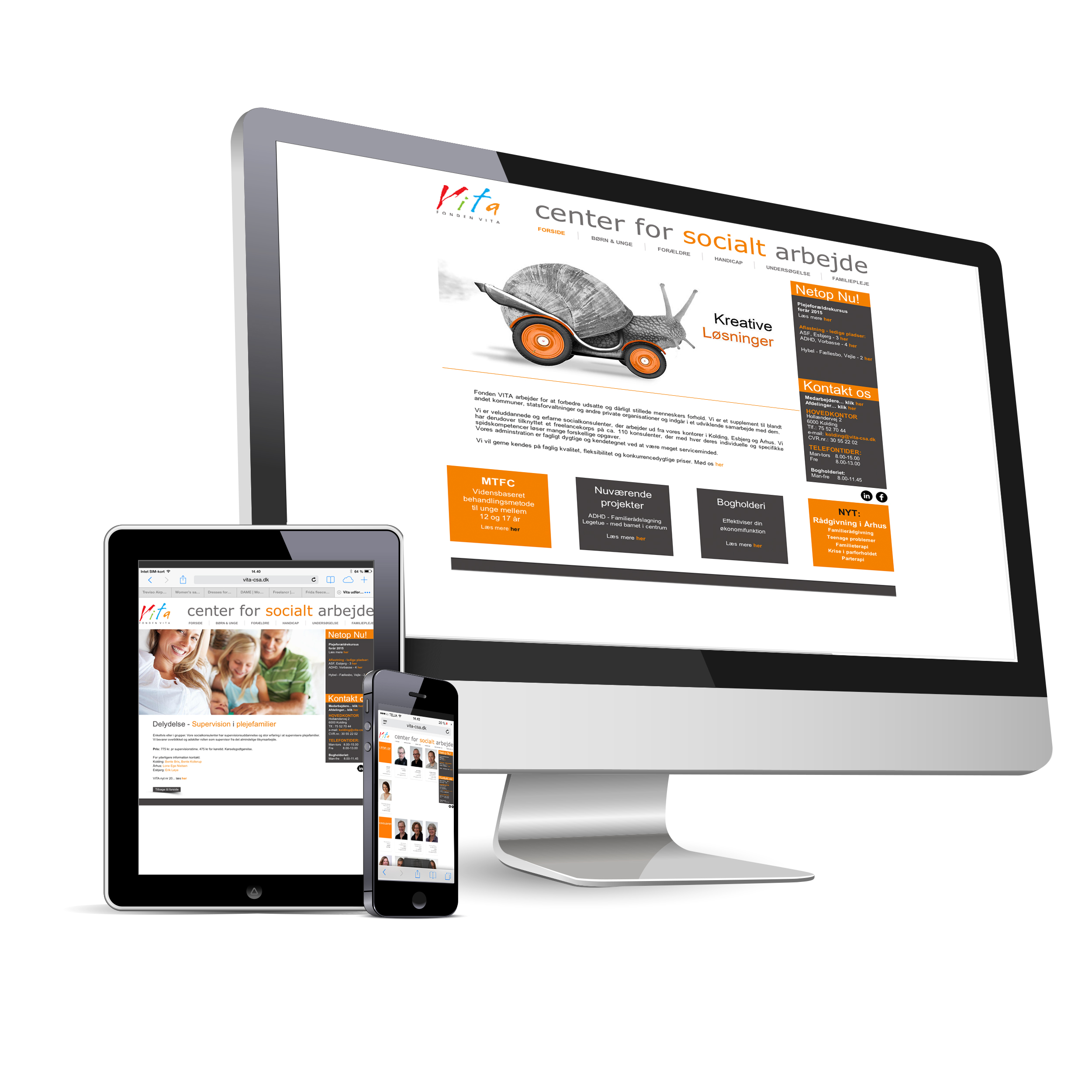 Responsive web site - Fonden VITA