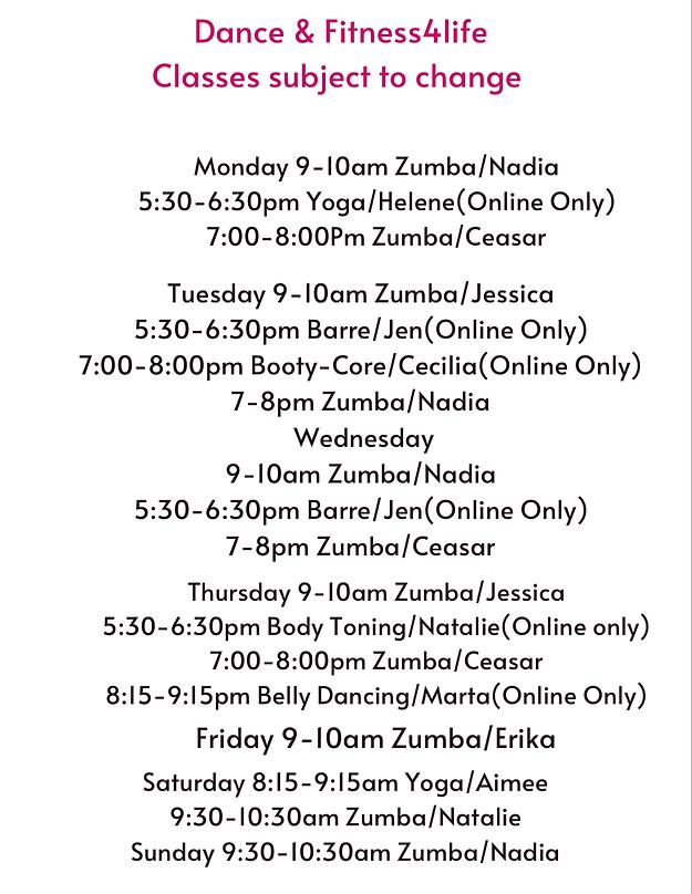 Online Classes Dance  Fitness4life ZOOM