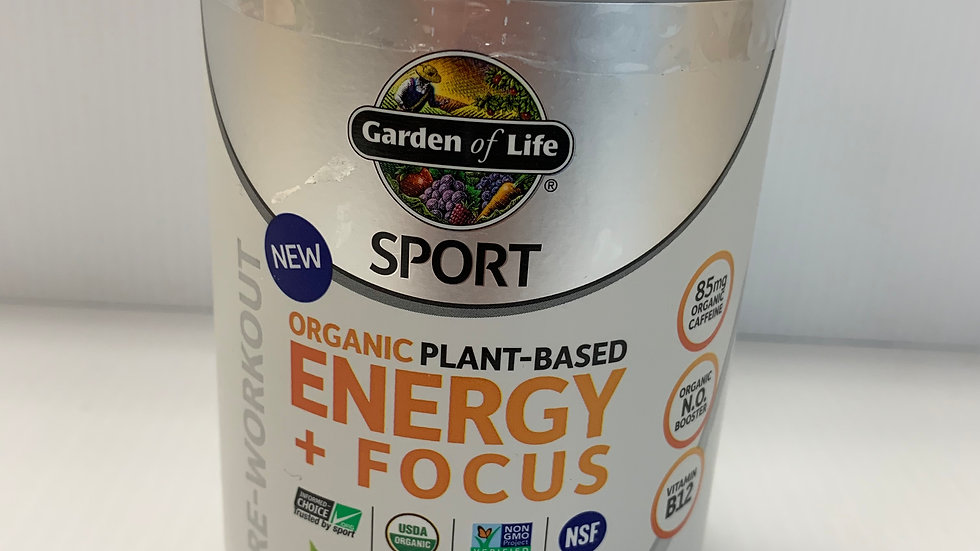 Organic Plant-Based Energy Focus