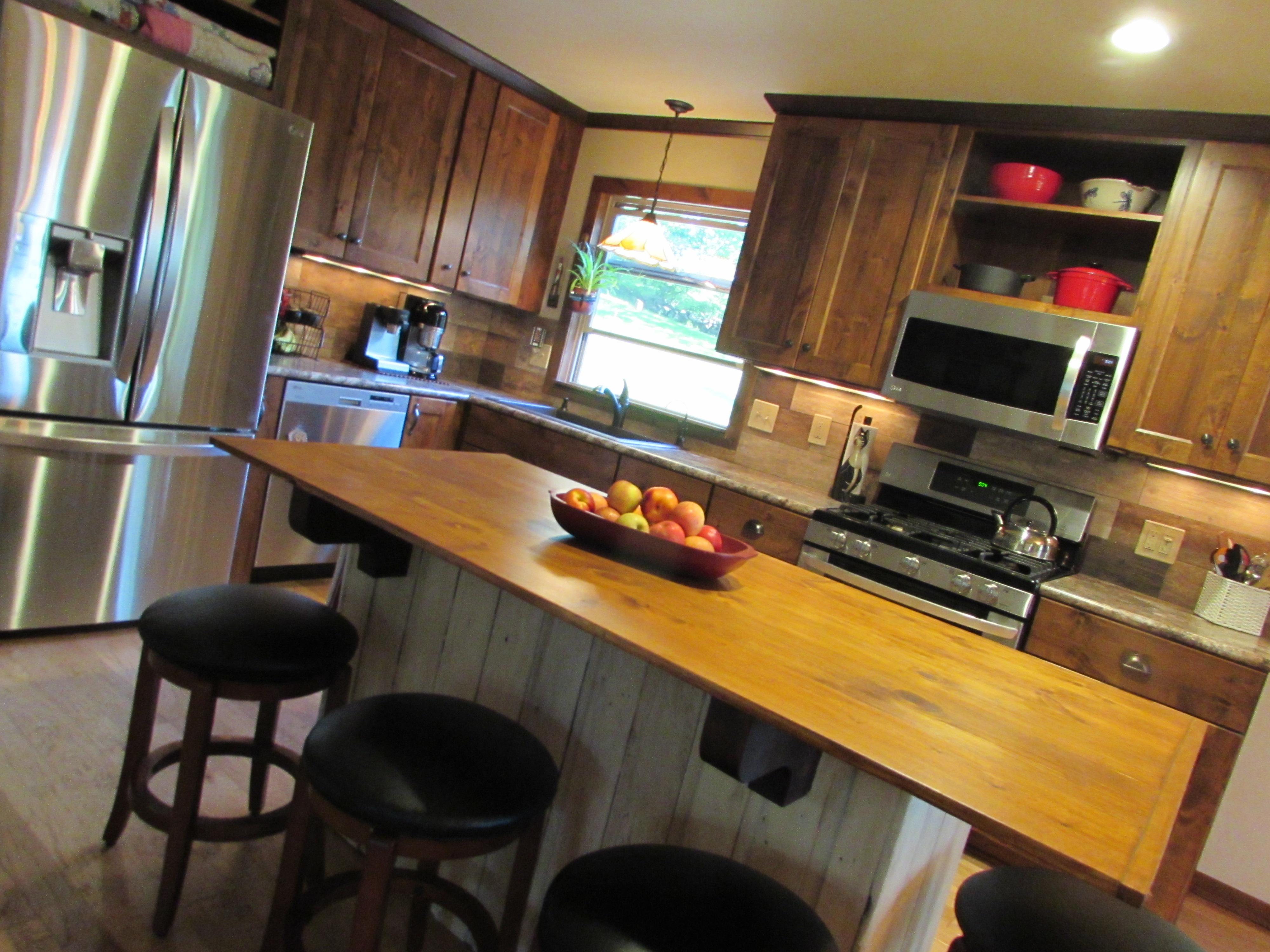 sandy kitchen after
