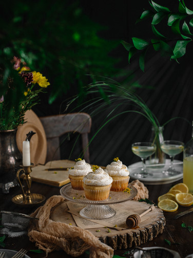 Lemon-Chamomile Cupcakes