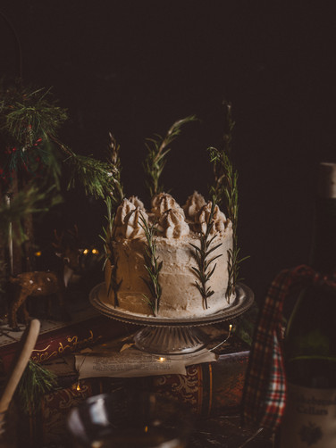 Apple Chardonnay Layered Cake with Brown Butter Cream Cheese Frosting