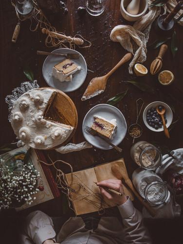 Lemon & Blueberry Layered Cake