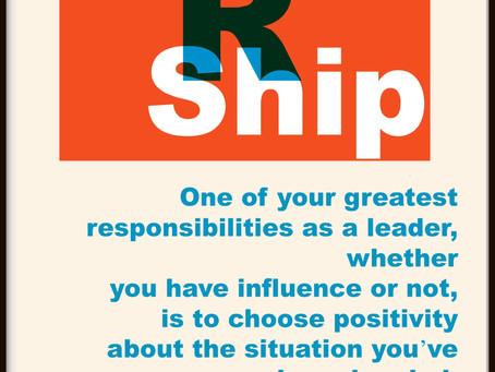 Leadership Is Being Positive