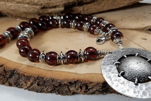 Orange Amber Necklace Sets