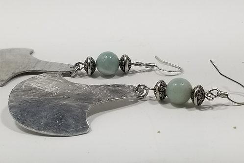 Amazonite Silver Earrings