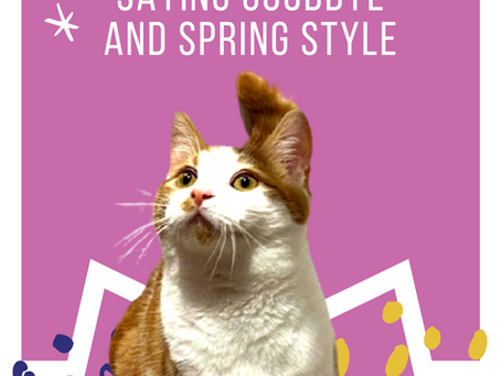 Snuggle Paws, Saying Goodbye and Spring Style!