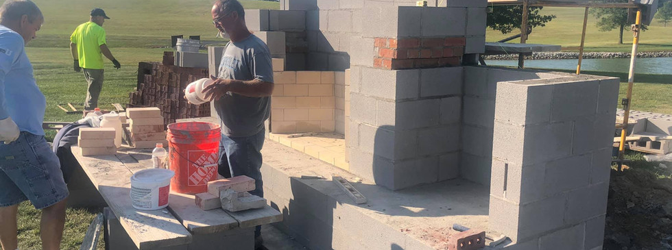 BACK OF OUTDOOR FIREPLACE BUILD