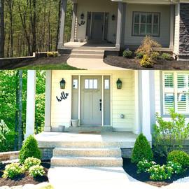 Crestwood home front door accents