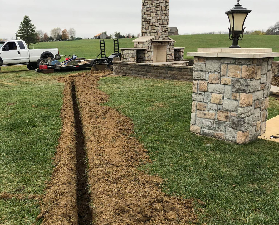 TRENCH FOR ELECTRIC