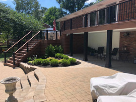 Patio, landscaping, deck, irrigation, and lighting