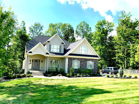 Updating the landscaping on a beautiful home in Crestwood Kentucky