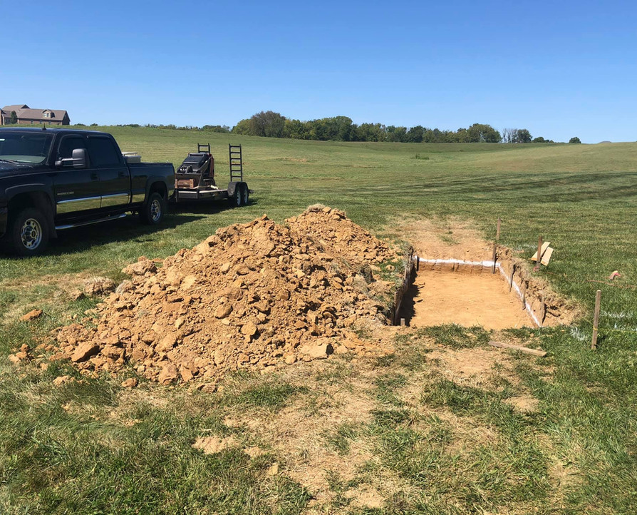 FOOTER DUG FOR FIREPLACE