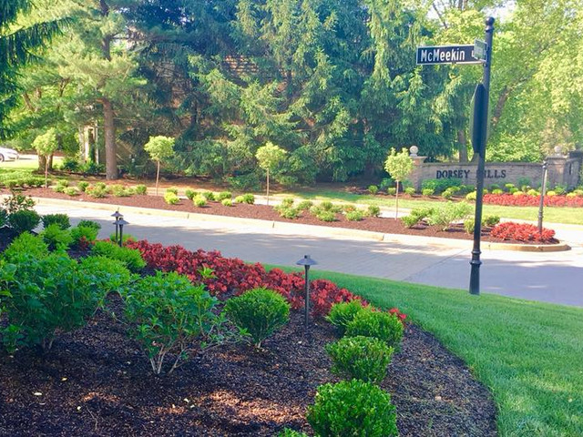 Condo Complex Entry Landscaping in Louisville
