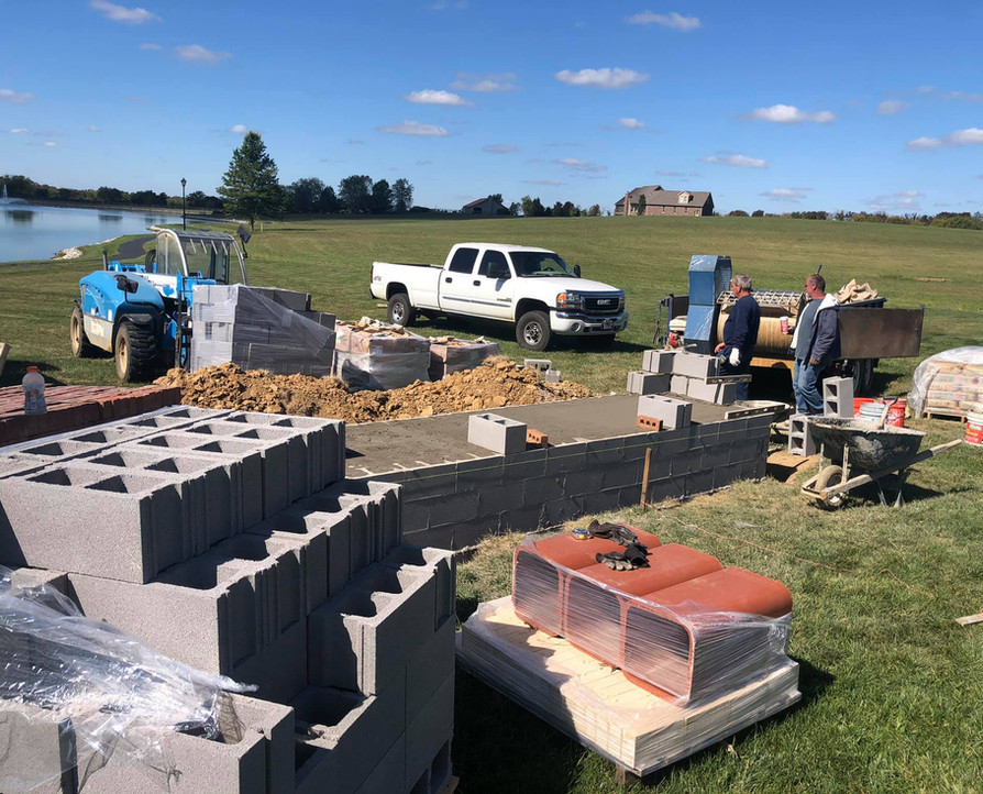 FUTHER PROGRESS ON OUTDOOR FIREPLACE BUILD