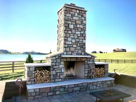 Outdoor Woodburning Fireplace