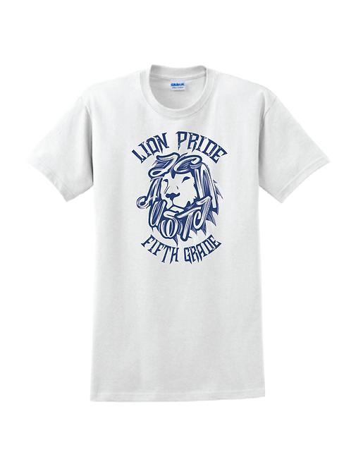 5th Grade Lion Pride White Tees