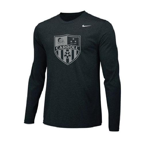 Nike® Long Sleeve Gray Crest