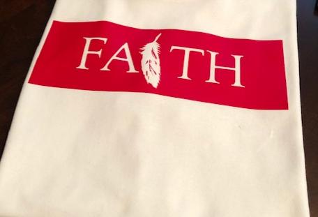"""LIVE BY FAITH"" TEE (RED)"