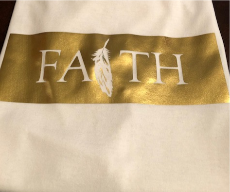"""LIVE BY FAITH"" TEE (GOLD)"