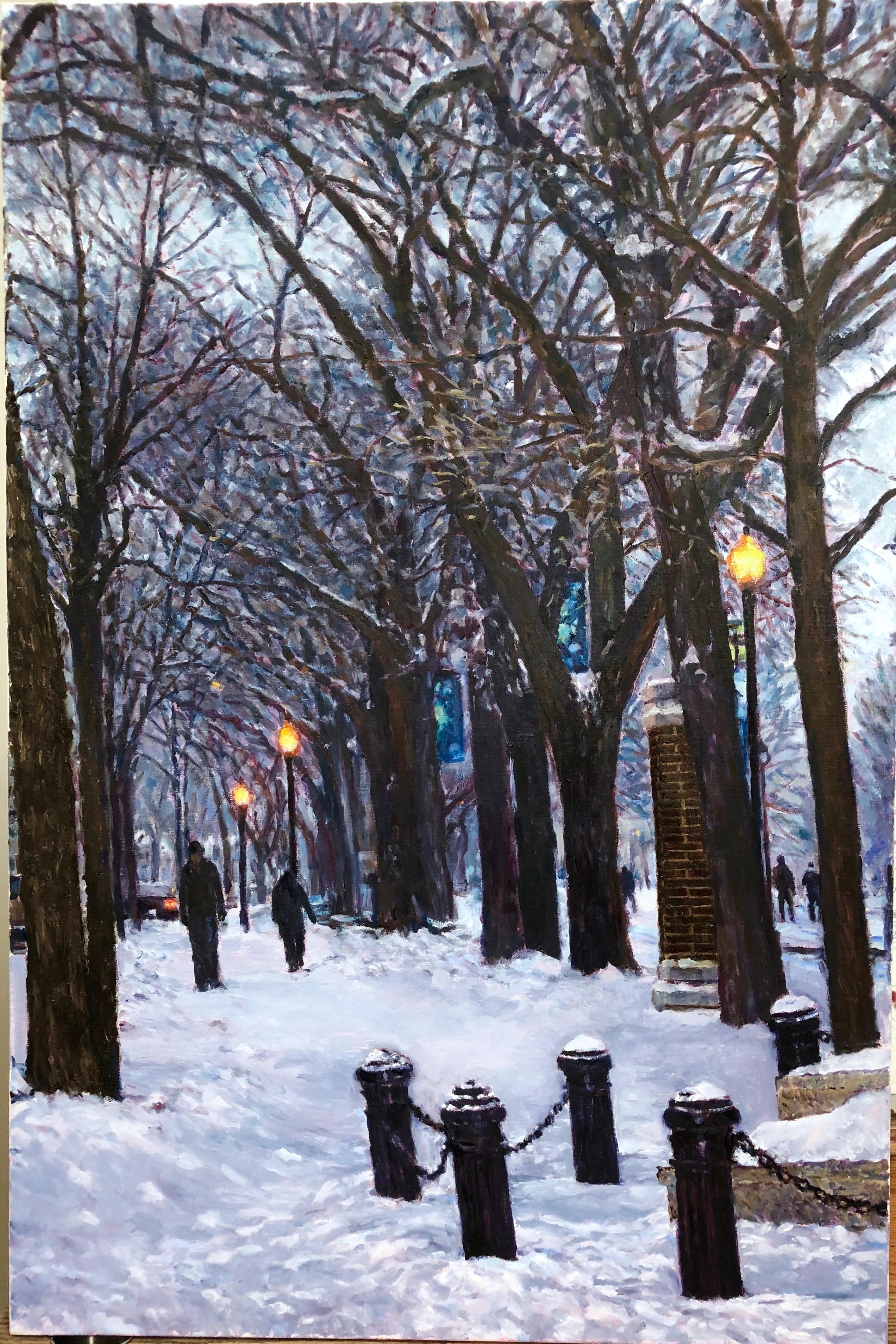 Snowy Evening Scene