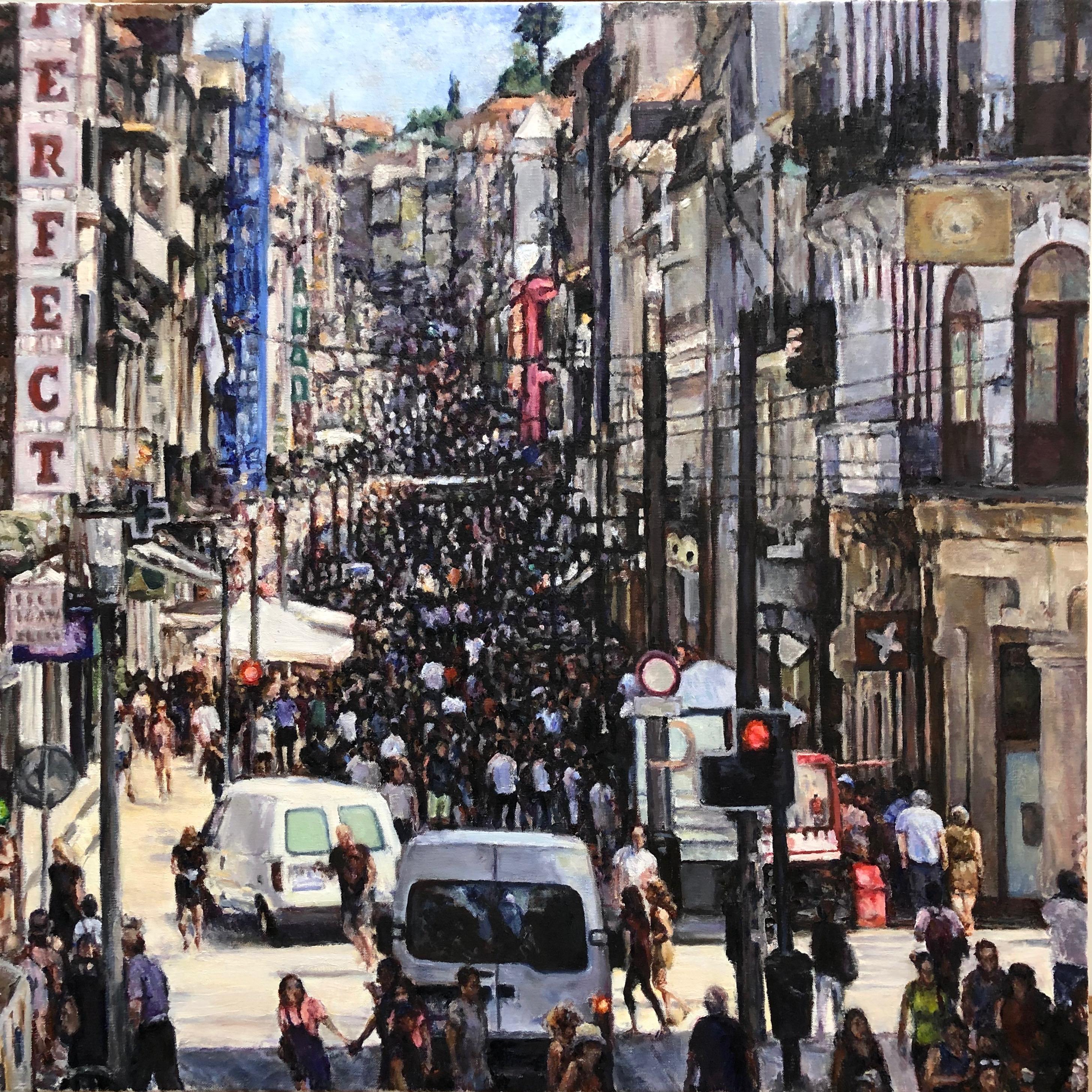 """Crowded Street in Porto"""
