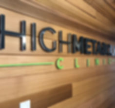 High Metabolic Clinic - reception sign