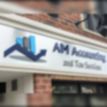 AM Accounting - 3D outdoor sign
