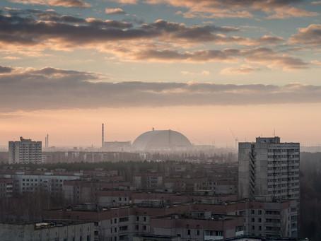 Полет на самолете над Чернобылем и Припятью