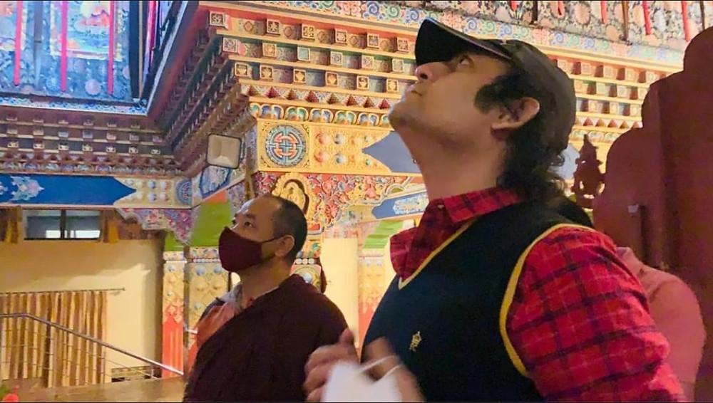 Maharishi Aazaad went to Himacal Pradesh to know the buddhist way of treatment.