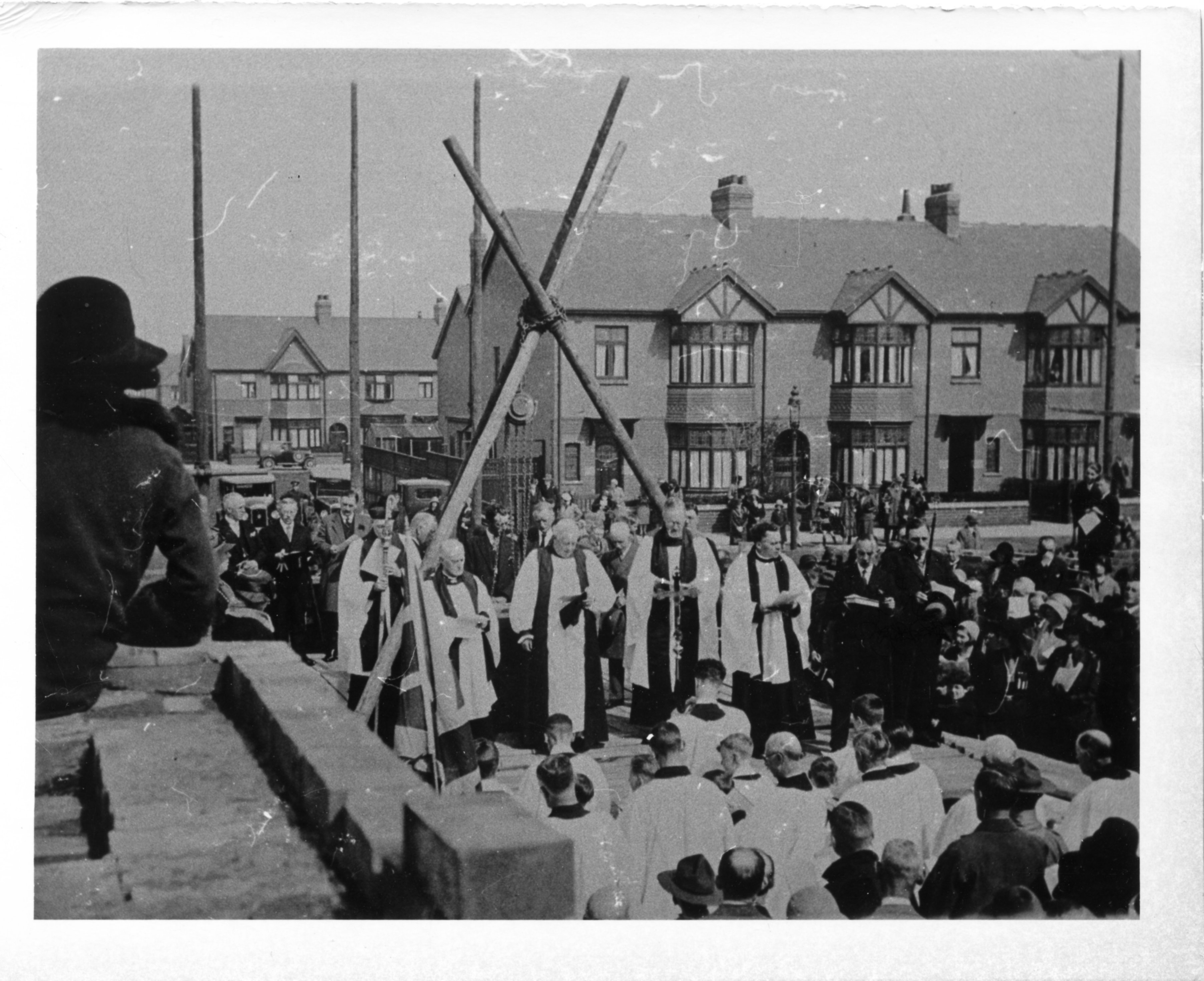 Laying the Foundation Stone, 9th May 1931