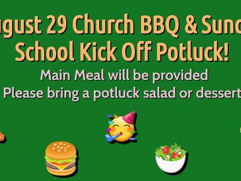 August 29 Potluck Dinner