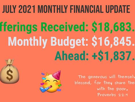 July Financial Update