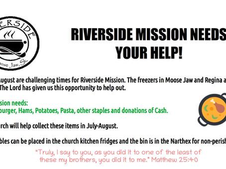 Riverside Mission Needs Help