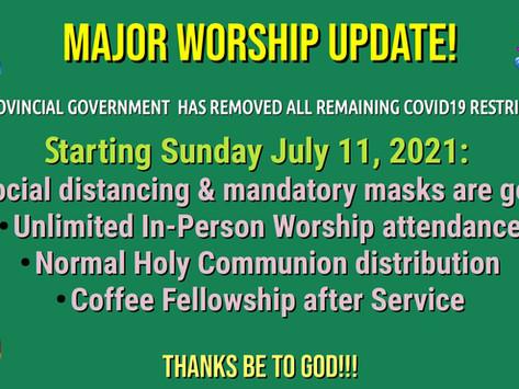 Major Worship Update