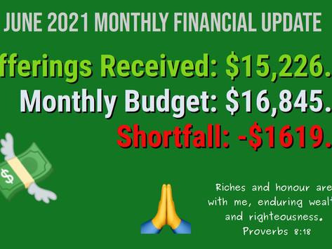 June 2021 Financial Update