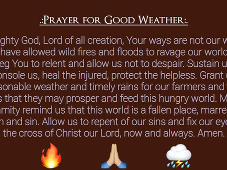 Prayer for the Weather