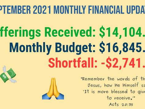 September Financial Update