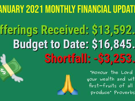 2021 January Financial Update