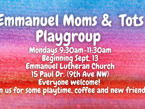 Moms and Tots Playgroup!