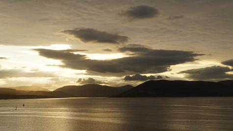 Cloudy Sunset, River Clyde ...