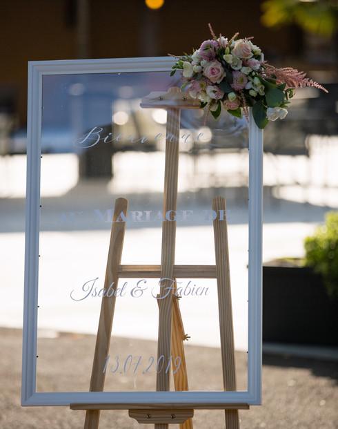 Panneau d'accueil des invités