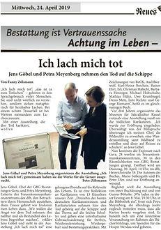 Presse Ausstellung Neues Gera Ich lach m